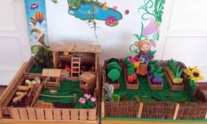 Макет огорода в детском саду своими руками